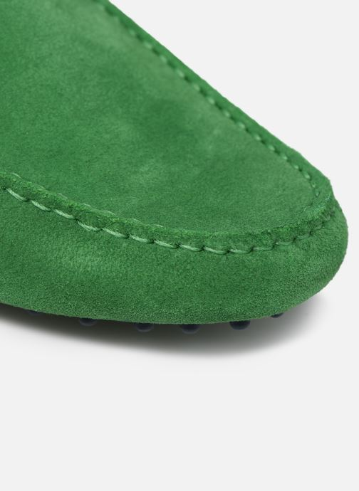 Mocasines Mr SARENZA Suttini Verde vista lateral izquierda